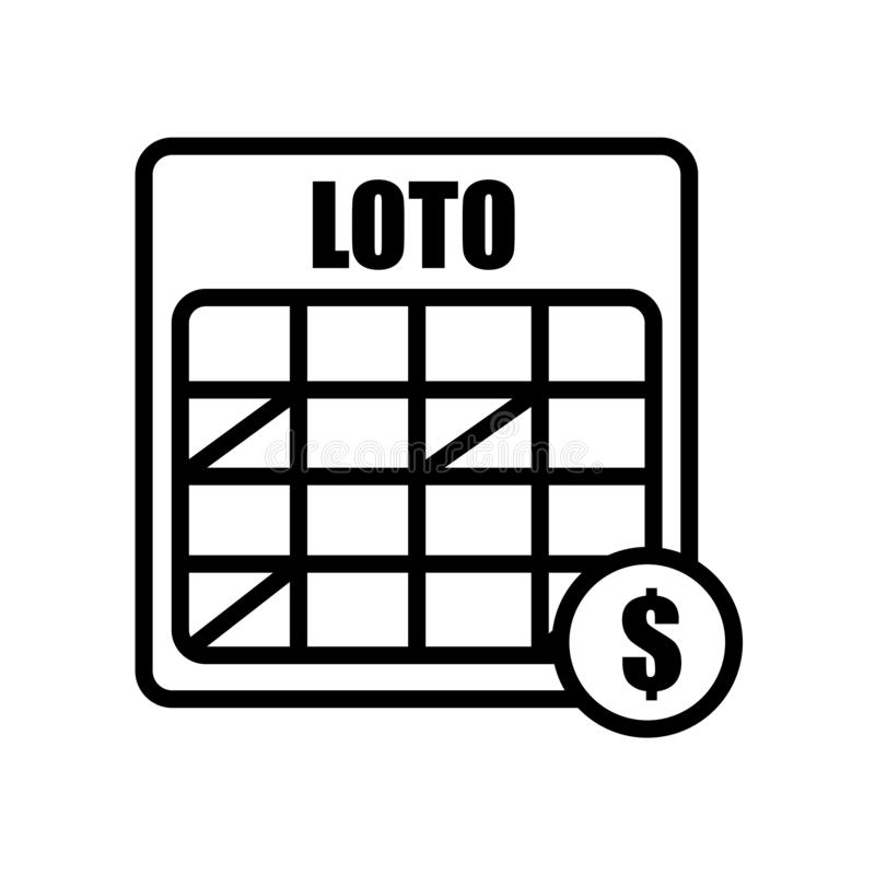 loto icon isolated on white background stock illustration