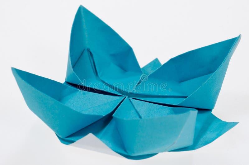 Loto piegante del documento di Origami fotografie stock libere da diritti