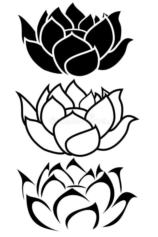Lotos-Blume vektor abbildung