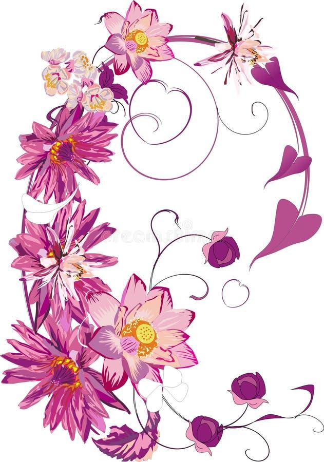 lotos dekoracji ilustracja wektor