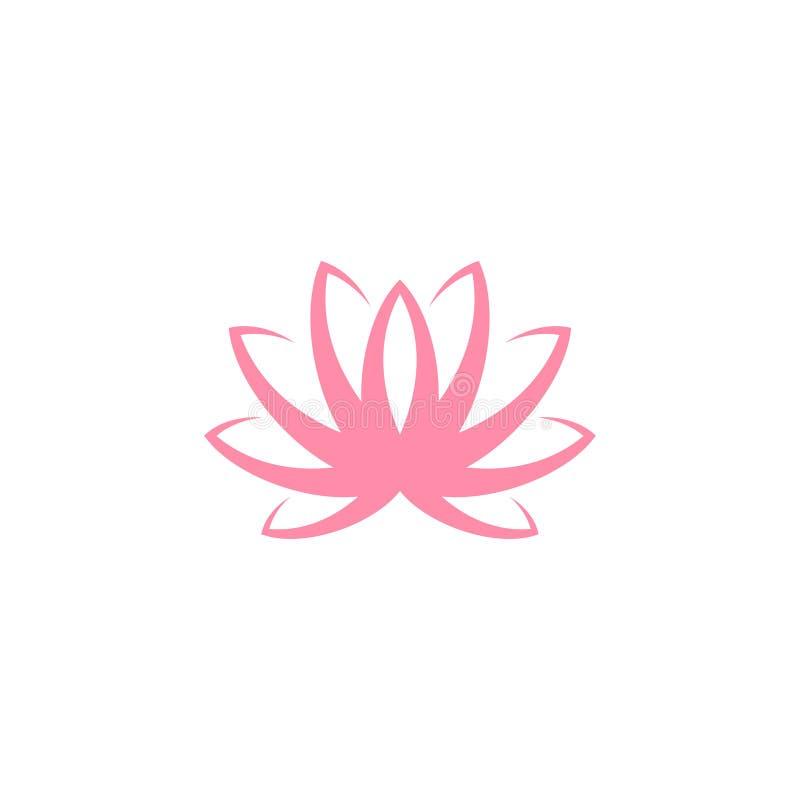 lotos Rosafarbene Blume auf wei?em Hintergrund Wasser lilly stock abbildung