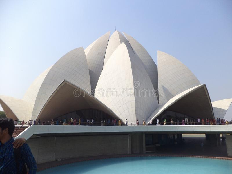 Lotosowa świątynia - Delhi obrazy stock
