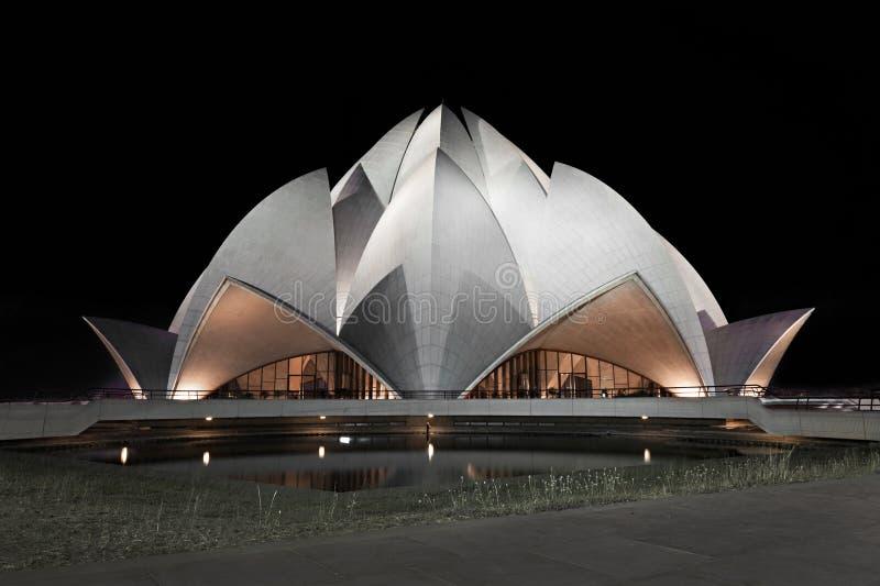 Lotosowa świątynia, Delhi obraz stock