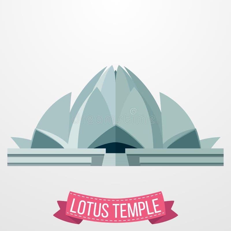 Lotosowa Świątynna ikona na białym tle ilustracji
