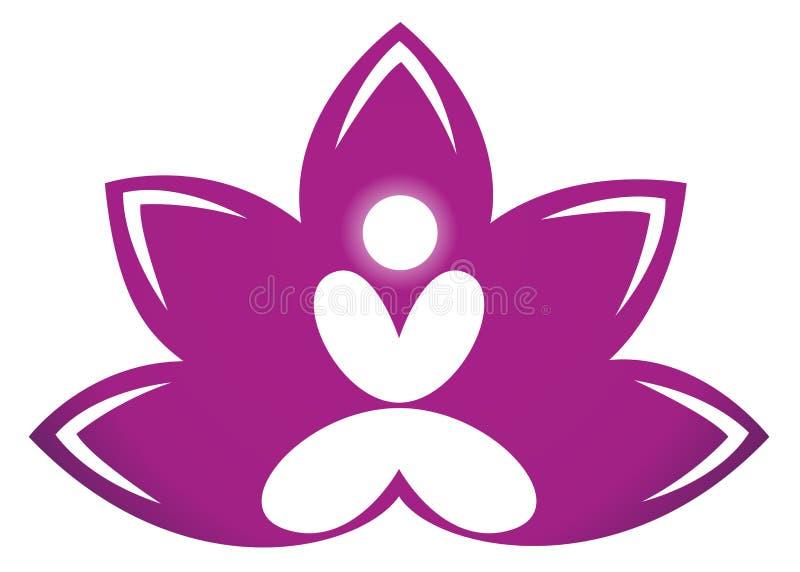 lotosowa medytacja ilustracja wektor