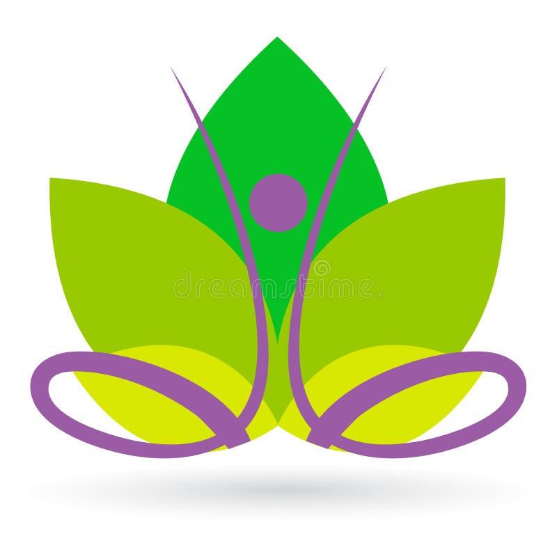 lotosowa medytacja royalty ilustracja