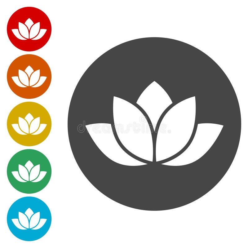 Lotosowa sylwetki ikona ilustracja wektor