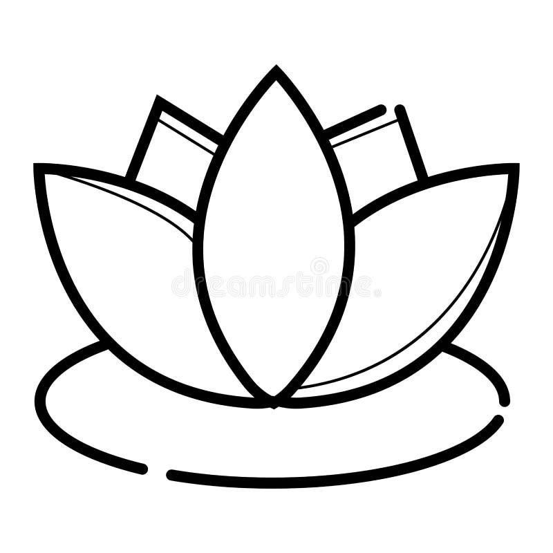 Lotosowa wektorowa ikona ilustracja wektor