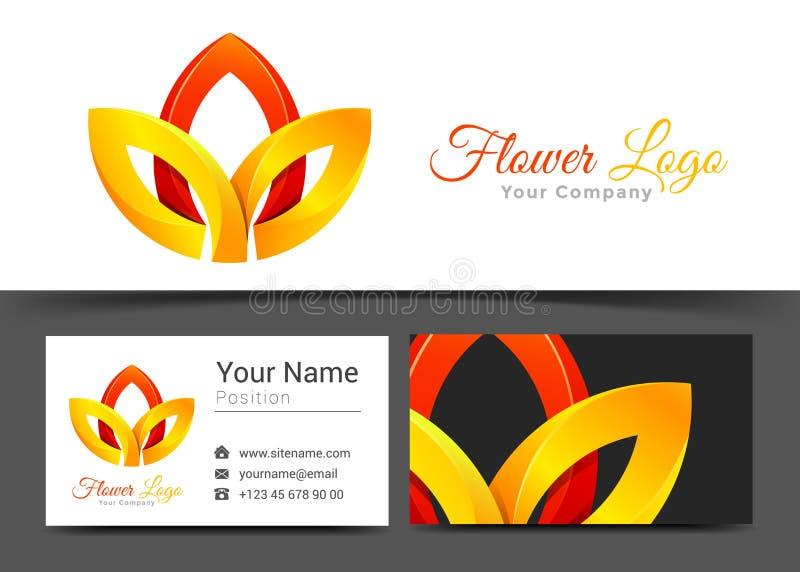 Lotosowego kwiatu koloru żółtego i rewolucjonistki joga Korporacyjny logo biznes i royalty ilustracja