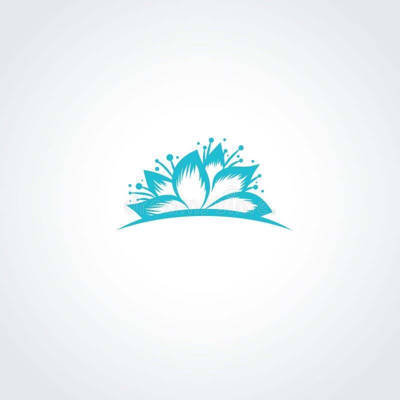 Lotosowego kwiatu logo ilustracja wektor