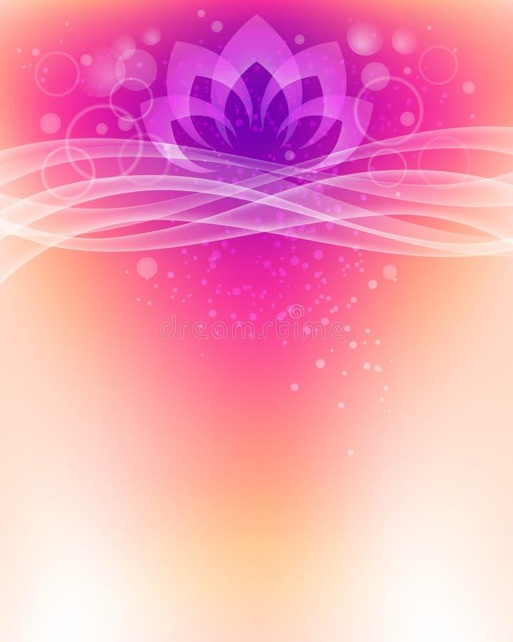 Lotosowego kwiatu tło ilustracji