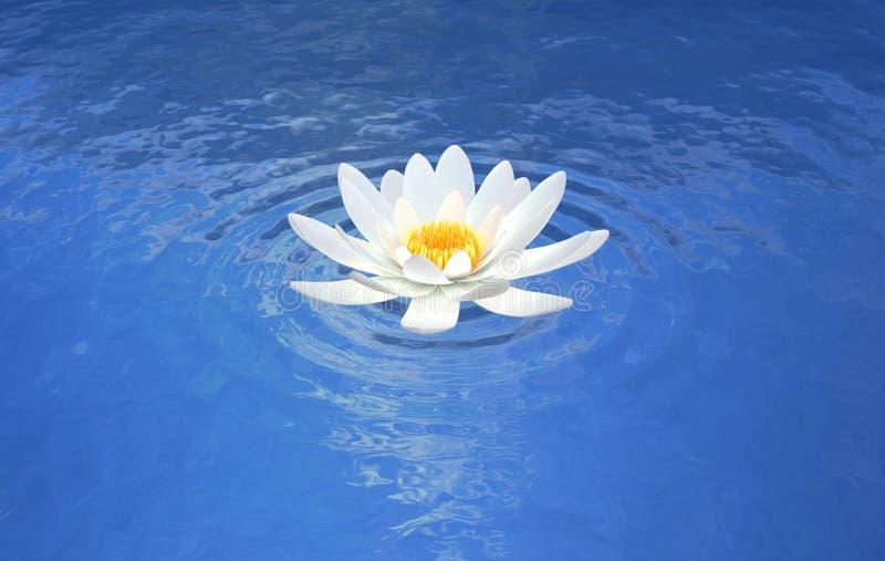 Lotosowego kwiatu wodnej lelui błękita scena ilustracji