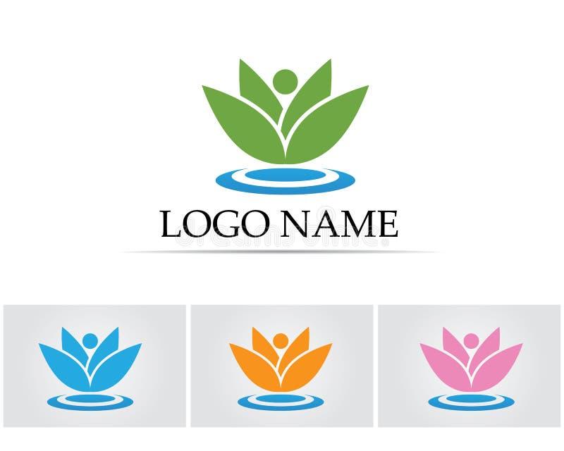 Lotosowego kwiatu znak dla Wellness joga i zdroju również zwrócić corel ilustracji wektora ilustracja wektor