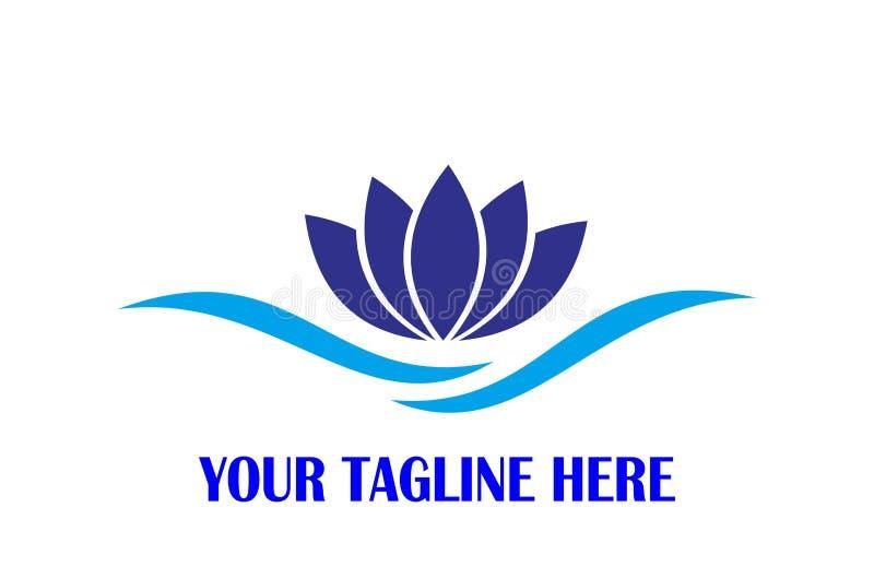 Lotosowy ikona logo royalty ilustracja