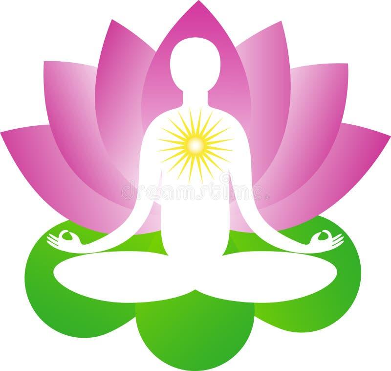 Lotosowy joga ilustracji