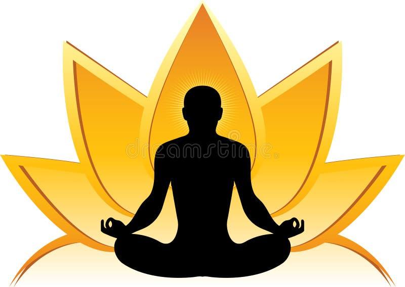 Lotosowy joga logo ilustracji