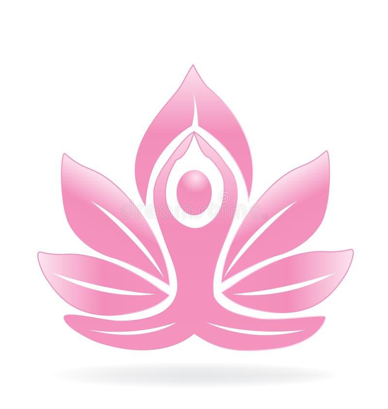 Lotosowy joga logo royalty ilustracja