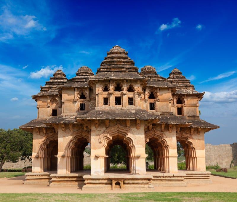 Lotosowy Mahal - pałac ruiny fotografia royalty free