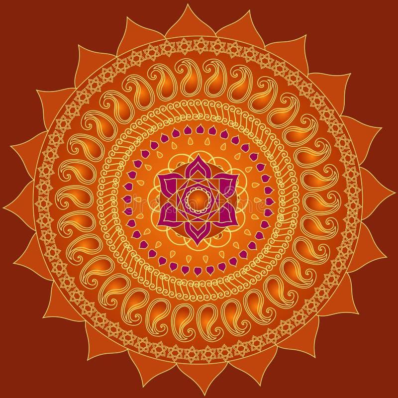 lotosowy mandala royalty ilustracja