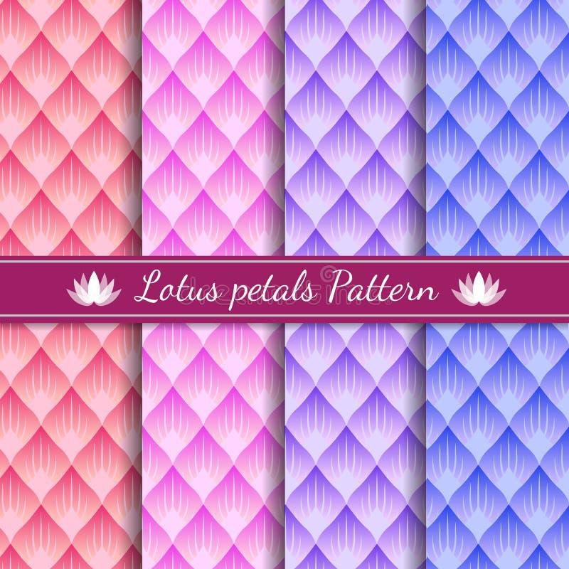 Lotosowy płatka abstrakta wzoru tła 4 brzmienia kolor royalty ilustracja