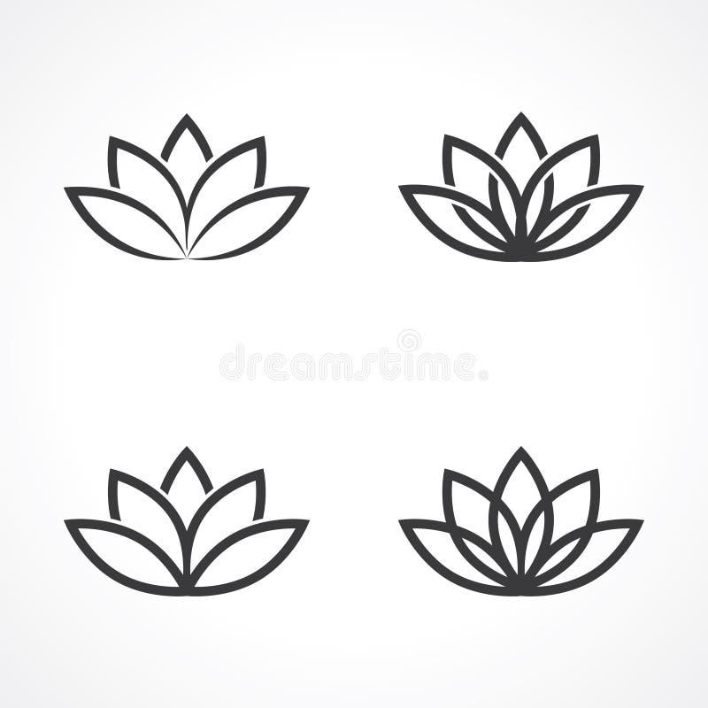 Lotosowy symbol royalty ilustracja