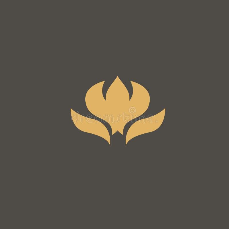 Lotosu logo Ślubna ikona Luksusowy retro celta emblemat Kosmetyki, zdrój, piękno salon, dekoracja, butika wektoru logo ilustracja wektor