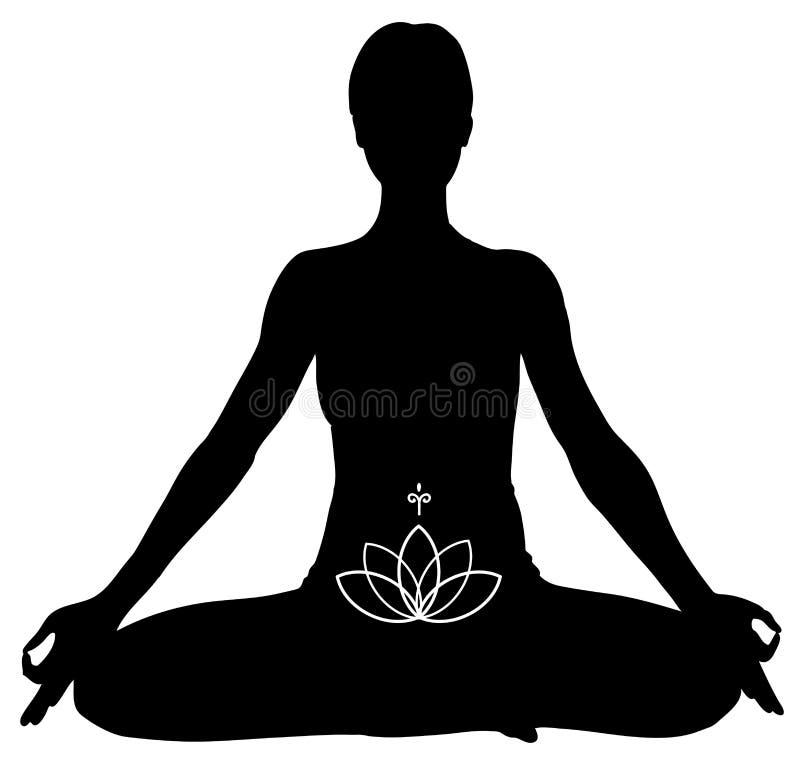 lotosu pozy joga ilustracji