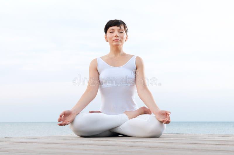 lotosu pozy joga fotografia royalty free