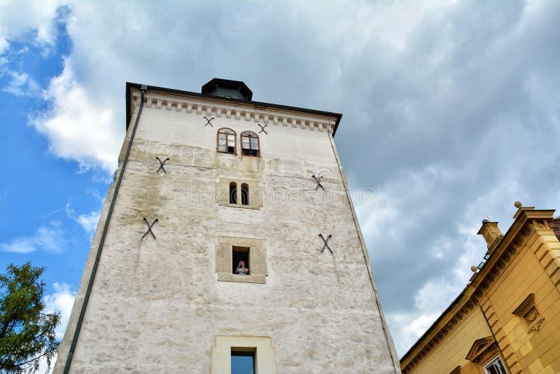 Lotrscak塔在萨格勒布,克罗地亚 免版税库存照片