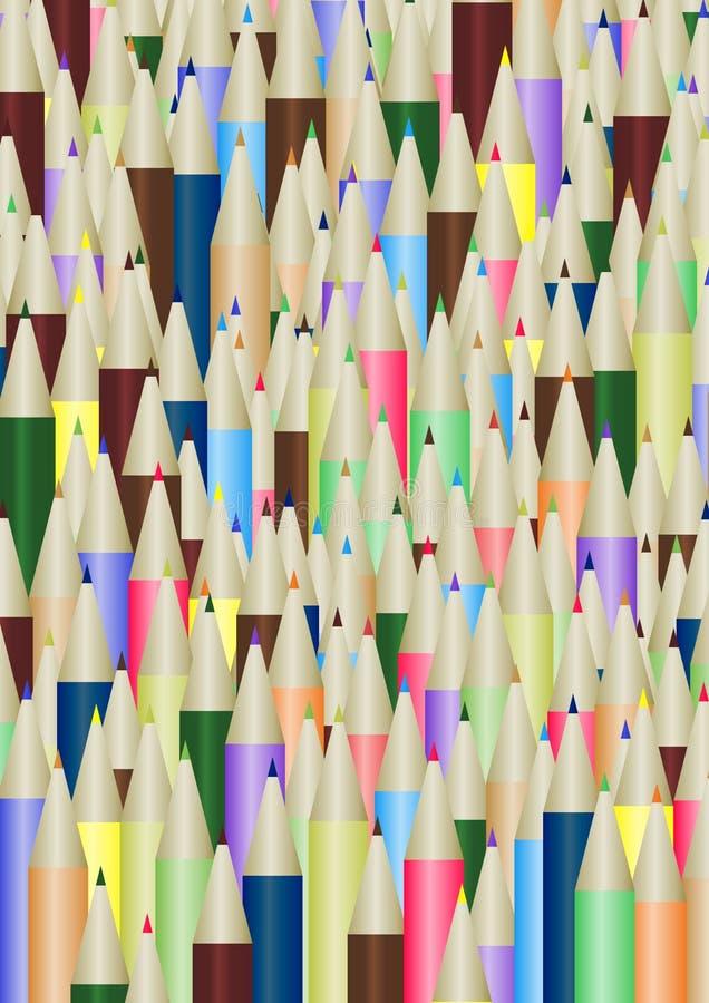 Lots Bleistifte lizenzfreie abbildung