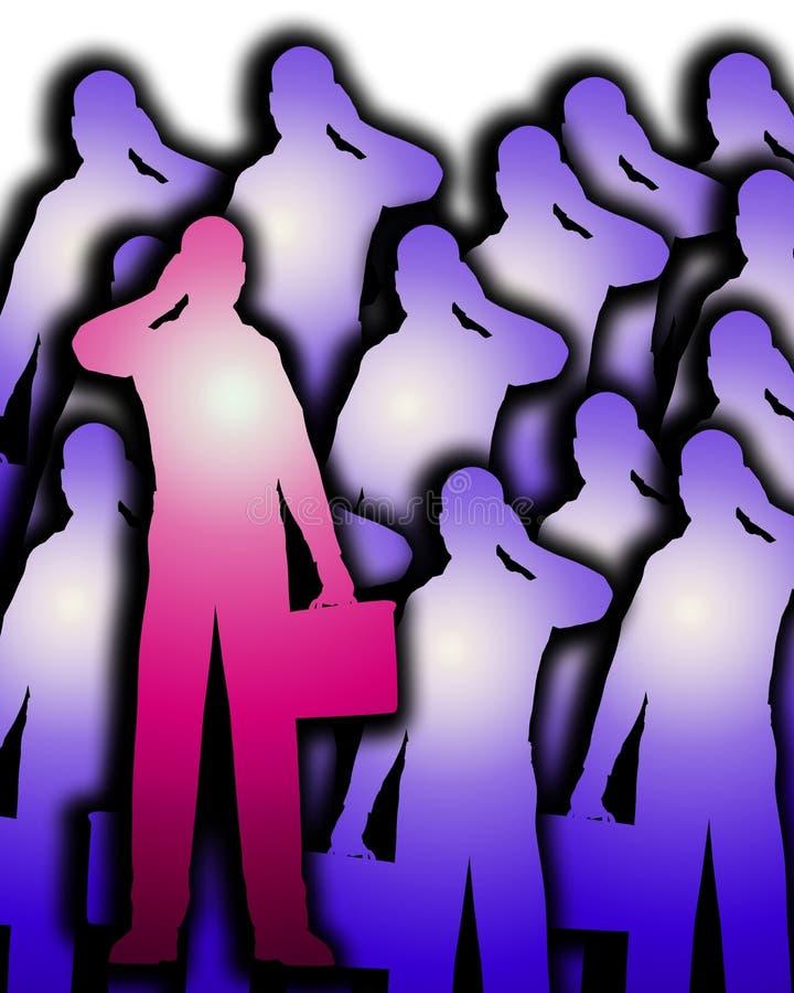 Download Lots Of Business Men Outlines 4 Stock Illustration - Image: 4446623