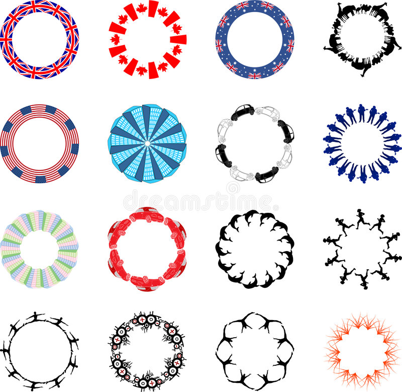 Lots Of Circular Designs Royalty Free Stock Images