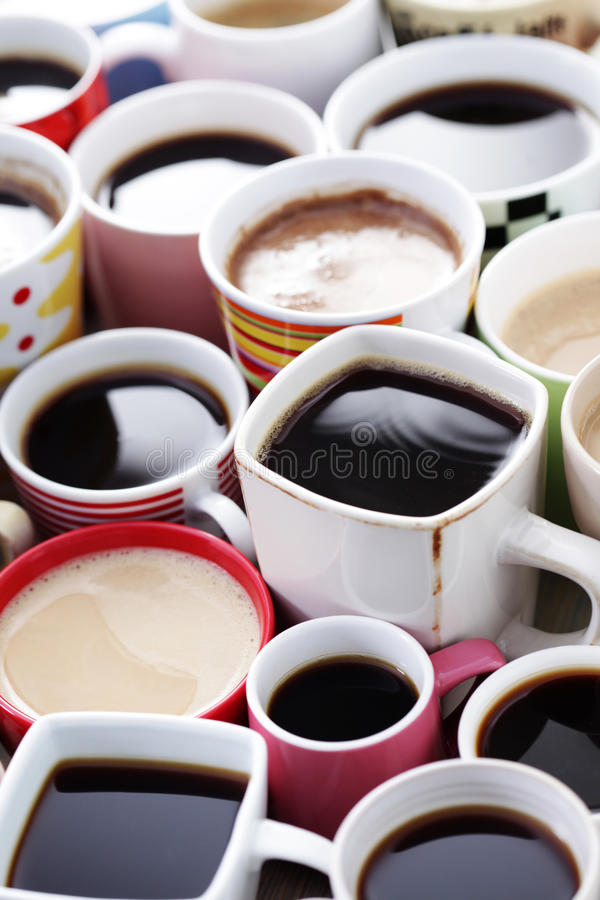 Lots of coffee! royalty free stock photo