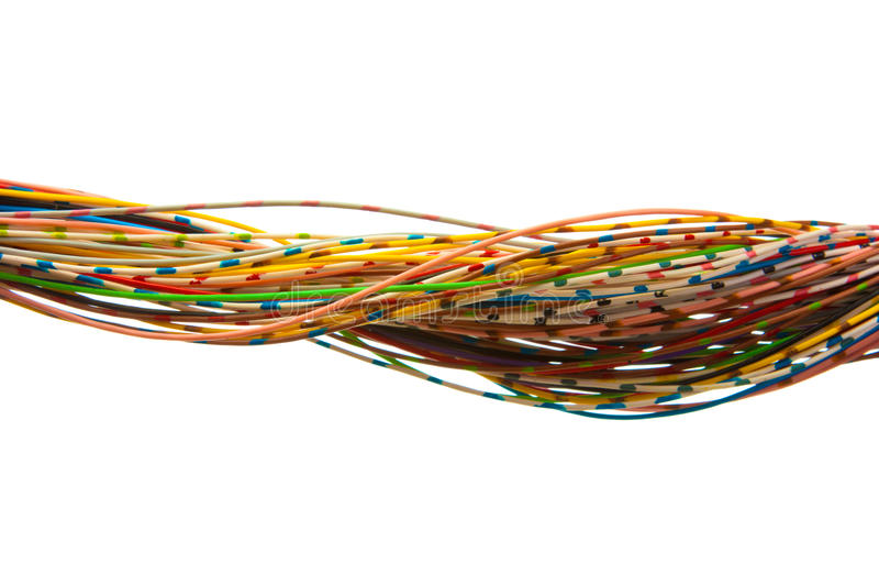 Lots of colored wires royalty free stock photography