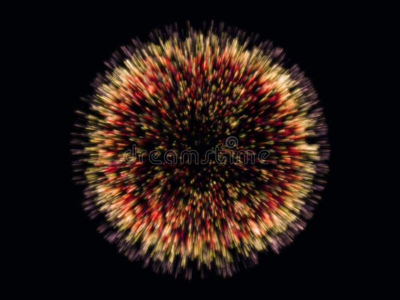 Download Lots Of Colorful Particles Emission Stock Illustration - Image: 6677941
