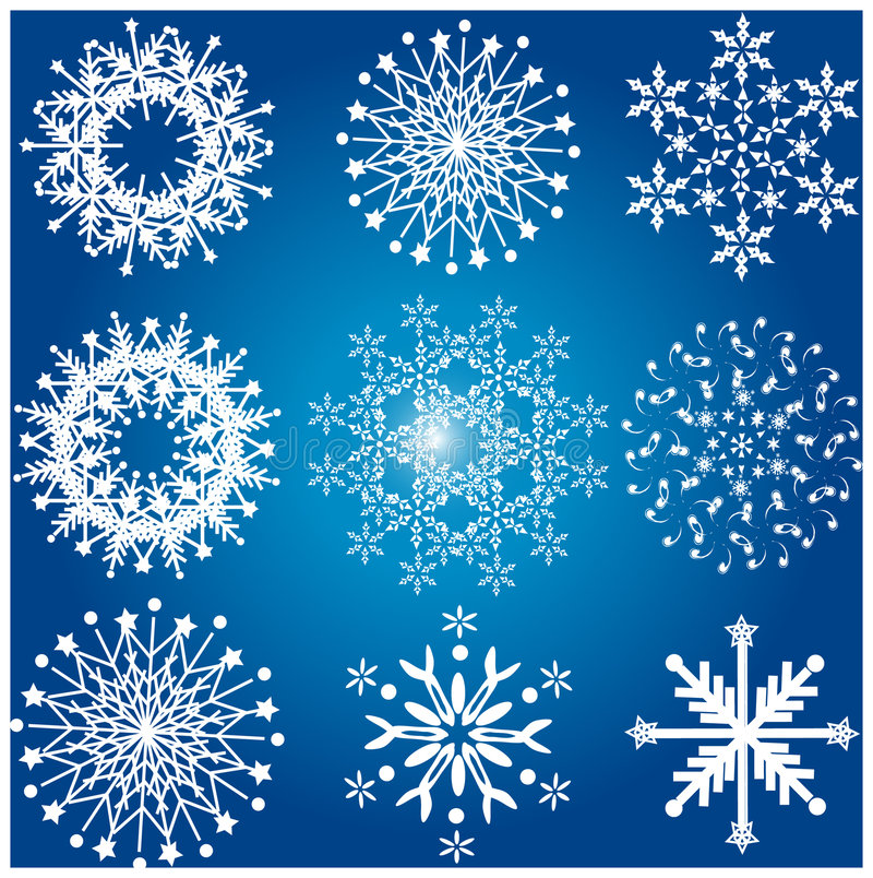 Lots der Schneeflocke stock abbildung