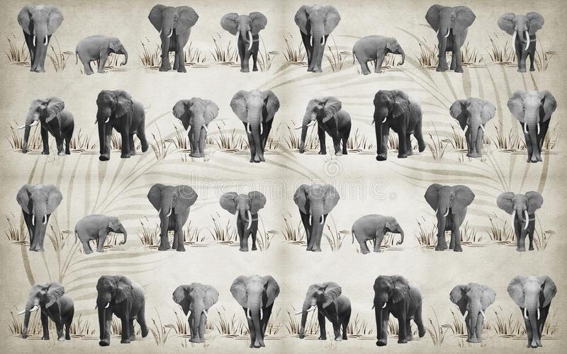 Lots Of Different Elephants For Wallpaper On Background 3D