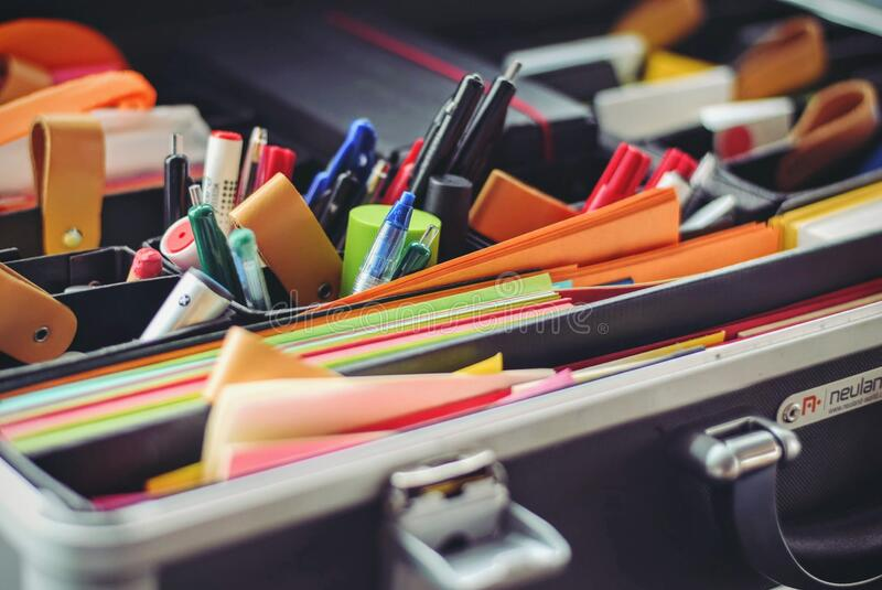 Lots Of Different Office Supplies Free Public Domain Cc0 Image