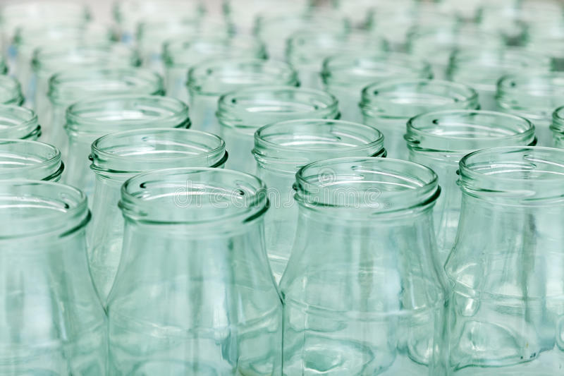 Lots Of Empty Jars Stock Images