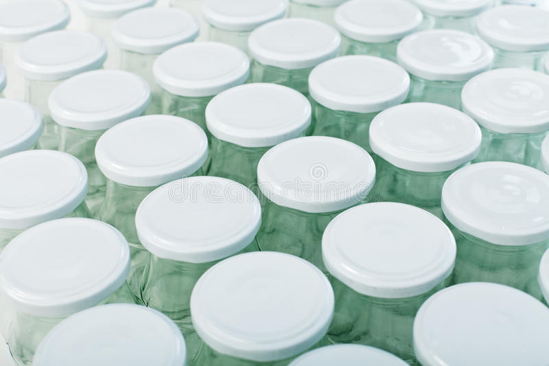 Download Lots of empty jars stock photo. Image of glass, empty - 21444846