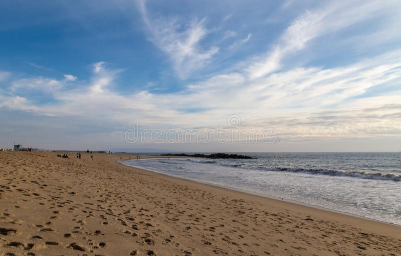 `Foot prints in the sands of time` royalty free stock image