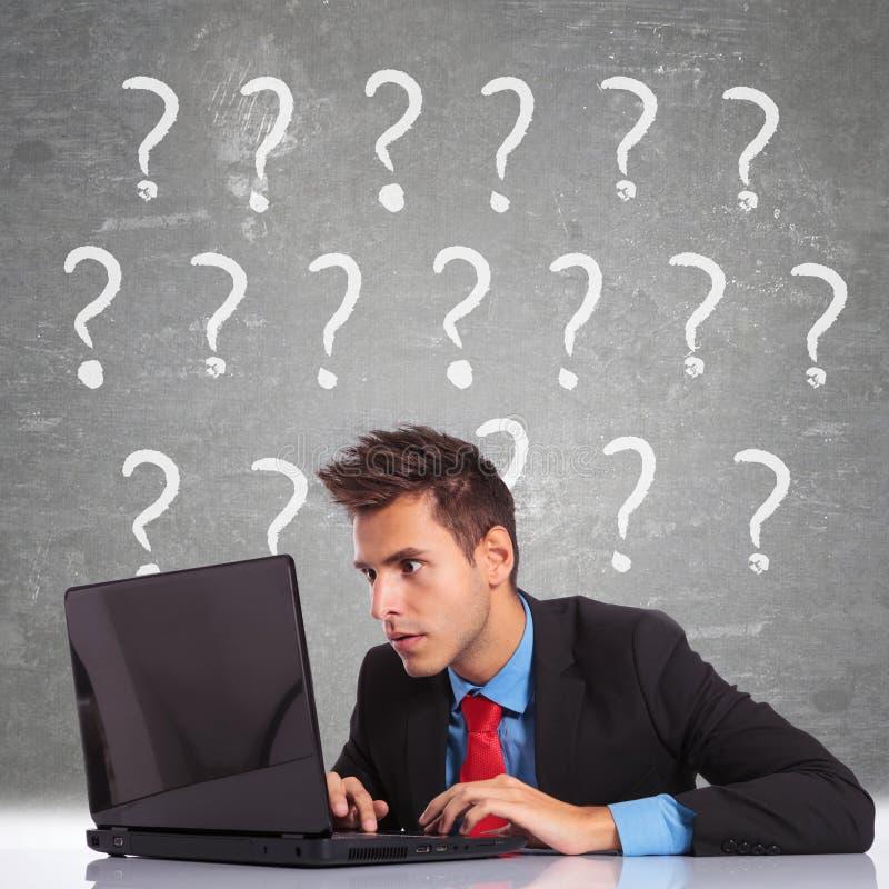 Lots Fragen haben lizenzfreie stockfotos
