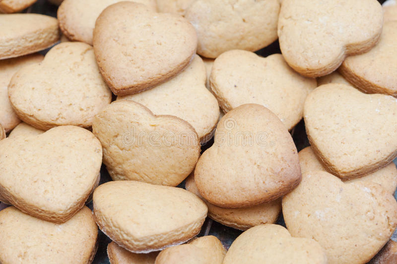 Download Lots Of Freshly Baked Heart Shaped Biscuits Stock Photo - Image: 31588380