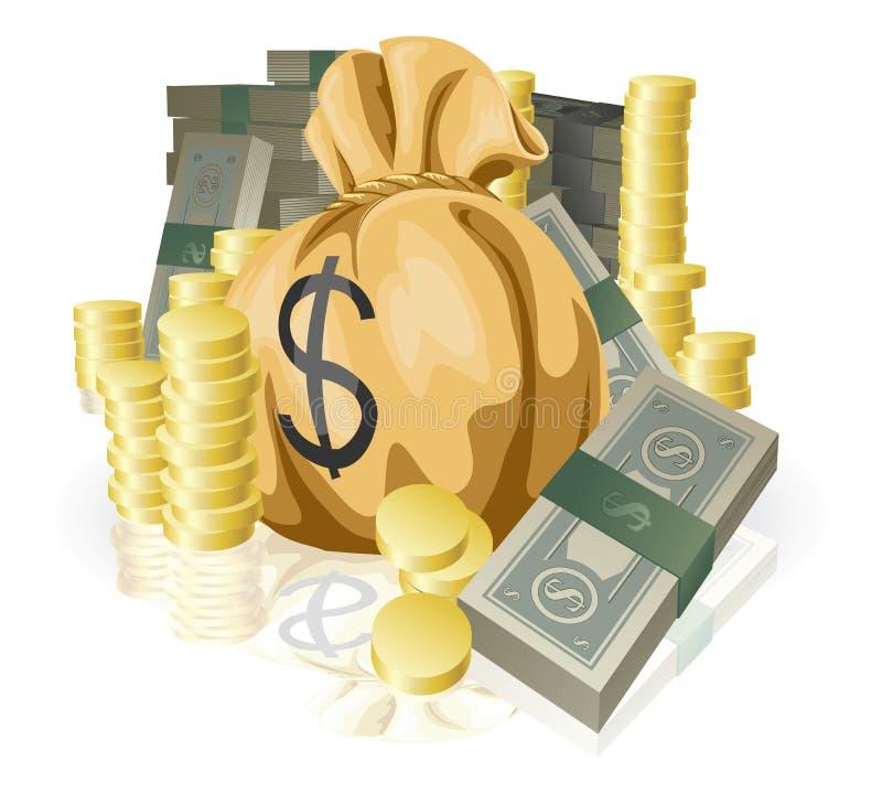 Lots Geld lizenzfreie abbildung