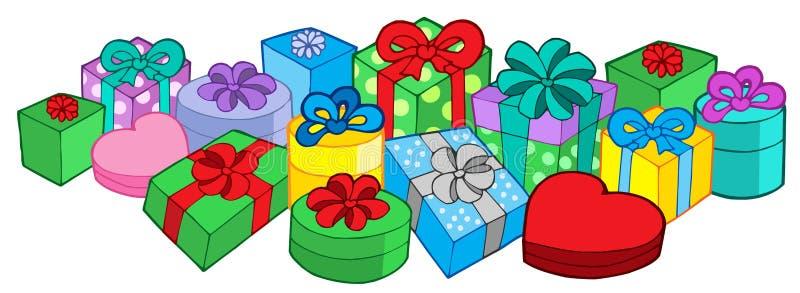 Lots Geschenke lizenzfreie abbildung