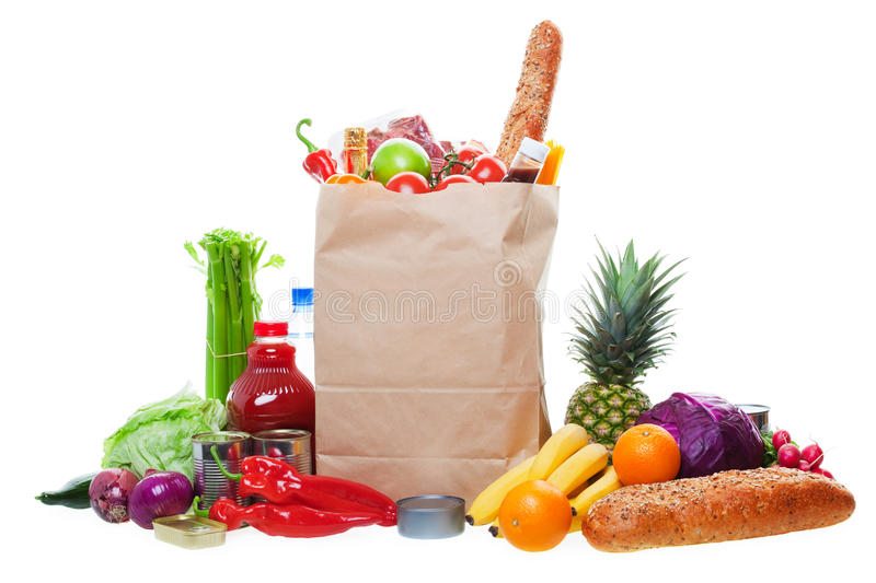 Download Lots of Groceries stock photo. Image of natural, bottle - 17001094