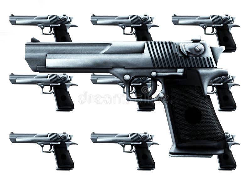 Download Lots Of Guns stock illustration. Illustration of violence - 4118175