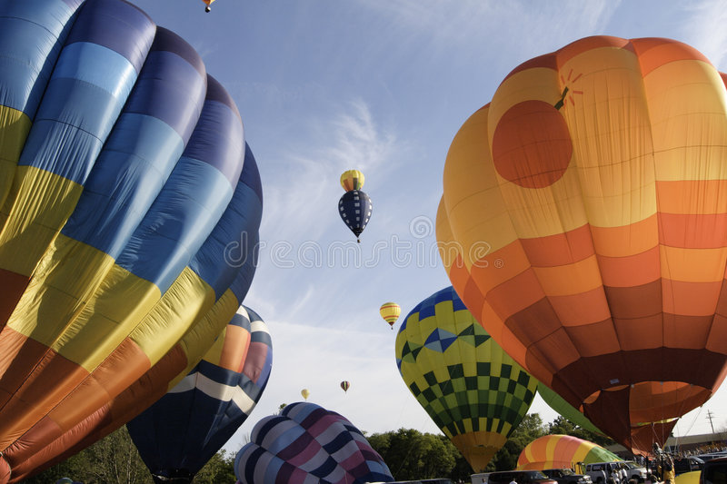 Lots of hot air royalty free stock images