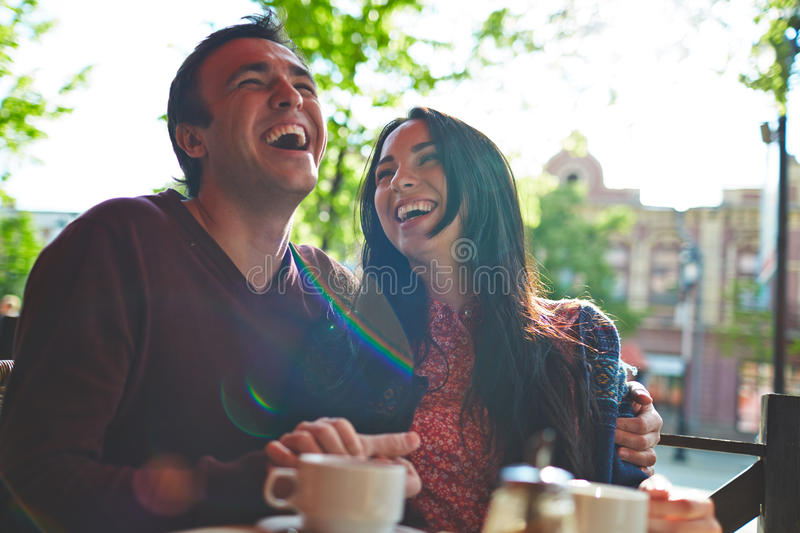 Lots of laughter stock photos
