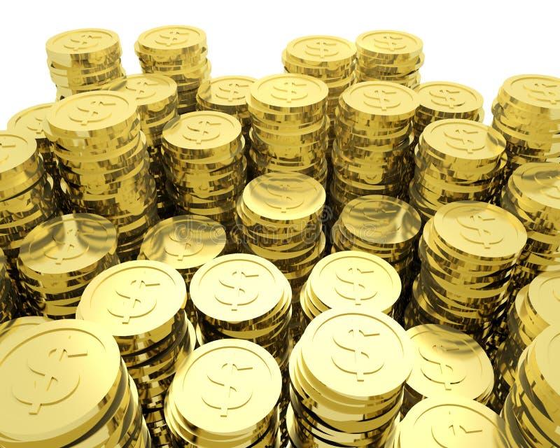 Lots Münzen stock abbildung